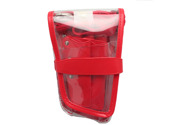 KF GVC0031 - TOOL POUCH RED TRIM CLEAR